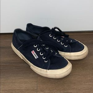 Superga Navy and white sneakers size 7/37.5